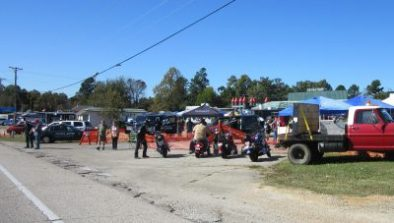 """Bikers everywhere at this """"fall festival"""""""