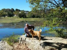 Jim & Chewie taking a break and enjoying the view