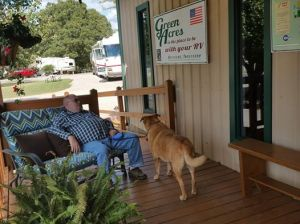 Napping on the porch at Green Acres