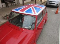 British car in front of P & W