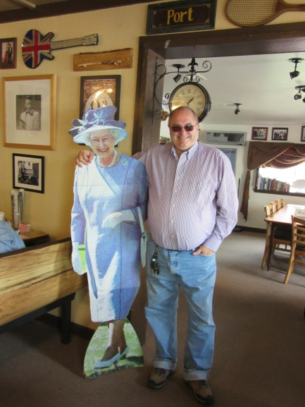 Jim gets cozy with the Queen
