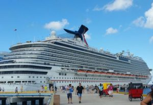 Carnival Dream at port in Cozumel, Mexico