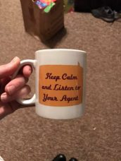 Jessica's mug from us (she's an insurance agent)