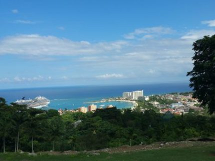 Ocho Rios, Jamaica from hill above
