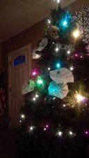 Clarissa & Josh's tree w/ kid's snowflakes