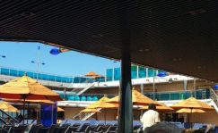 Lido deck pool area