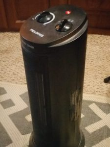 One of two space heaters used