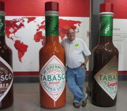 Jim-size hot sauce bottle