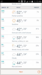 Batesville's forecast - brr