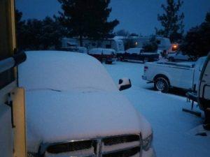 Snow in Batesville, AR