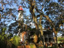 Lighthouse, museum, & lovely live oaks