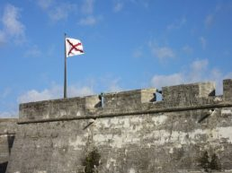 The fort flying Spanish flag