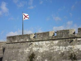 The fort flying Spanish flag