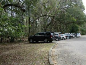 Parking area near the hub of activity