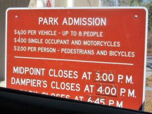 Fee schedule for park
