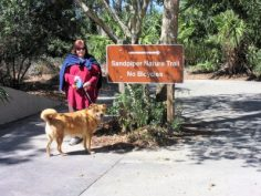Angela & Chewie ready to hike