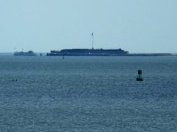 Ft. Sumter, zoomed in as much as our little camera could