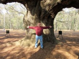 The trunk is wider than Jim's wing span.