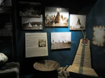 One of the several Native American displays