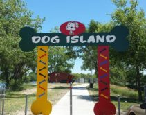 Entrance to Grand Island dog park