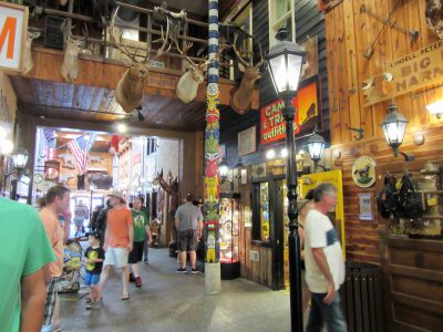 One area inside the interconnected shops of Wall Drug