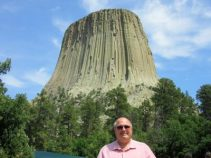 Jim with tower - WY