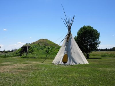 Stuhr Teepee and earth lodge