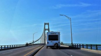 Crossing the Mackinac Bridge