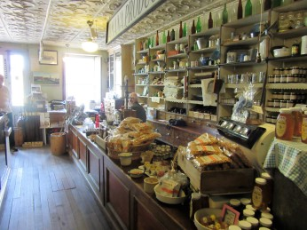 Inside one of the general stores