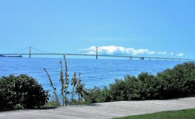 Mackinac Bridge from Island