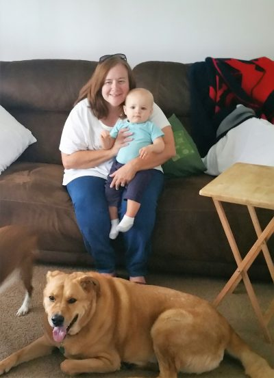 Grandma (Me) with Hershel and Chewie