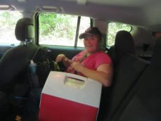 Me with our food cooler - Jackson Falls
