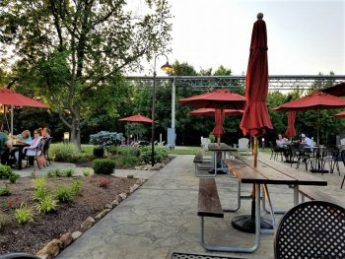 Nice outdoor seating - The Gardens