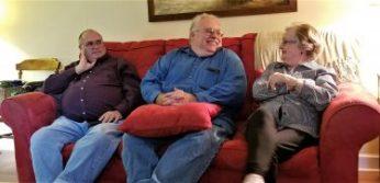L-R: Jim, David, Aunt Ann