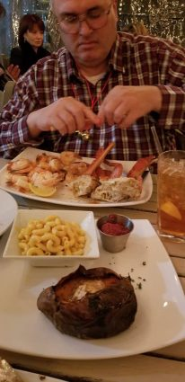 Jimmy getting seafood